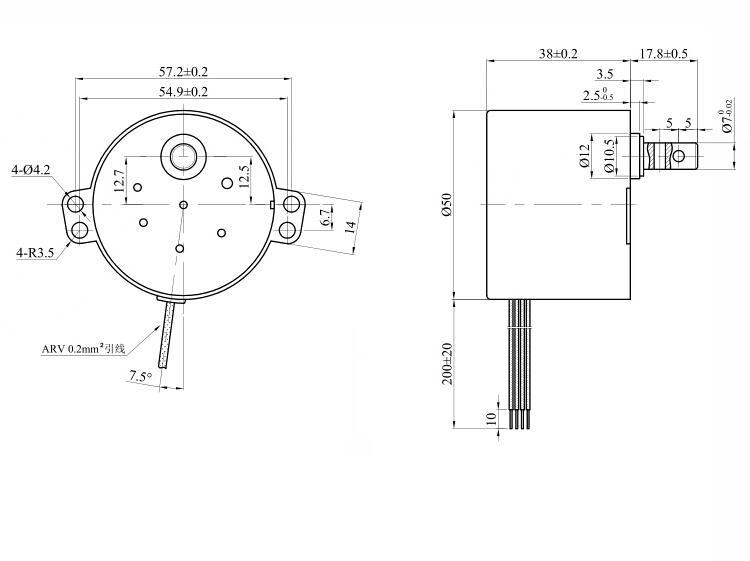 tyc-50 49ktyz 220v 240v ac small ac motor
