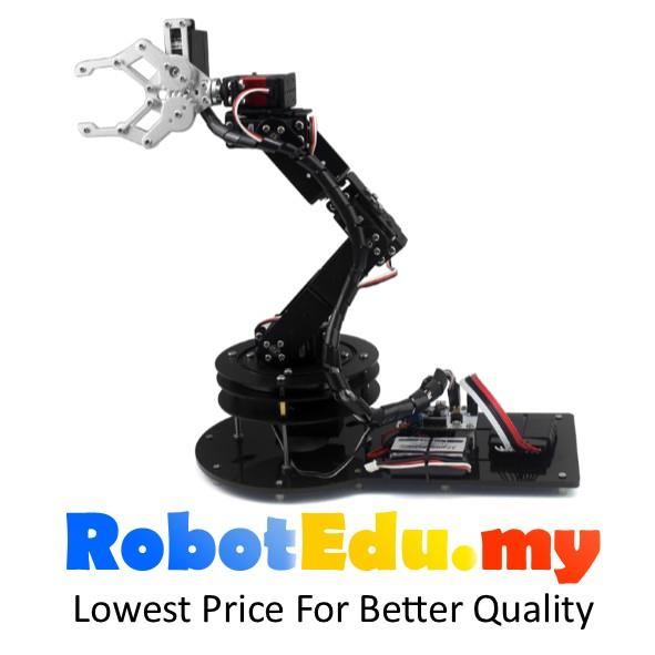 6 Dof Robot Arm Set Robotics Hand Gripper Arduino Learning Rc Kit