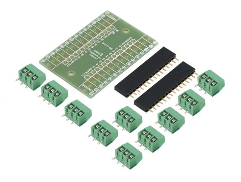 Arduino Nano IO Pin Expansion Terminal Block Screw Shield V1 0